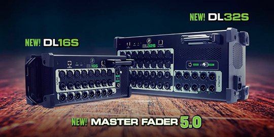 New DL32S and DL16S Digital Mixers from Mackie
